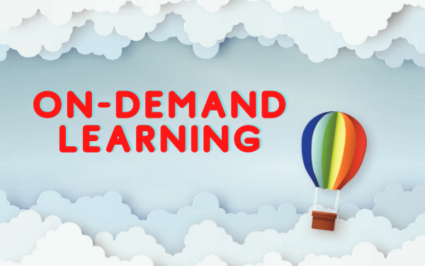 balloon signifying freedom of on-demand learning